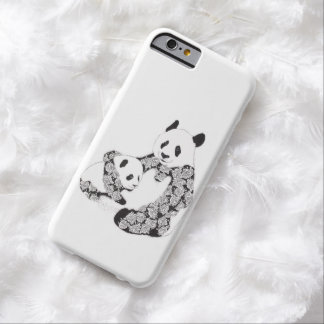 Panda Mother and Cub Illustration Barely There iPhone 6 Case