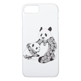 Panda Mother and Cub Illustration iPhone 8/7 Case