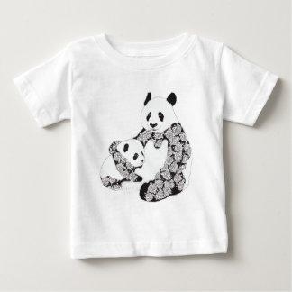 Panda Mother & Baby Cub Illustration Baby T-Shirt