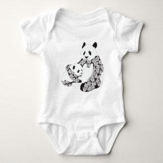 Panda Mother & Baby Cub Illustration Infant Creeper