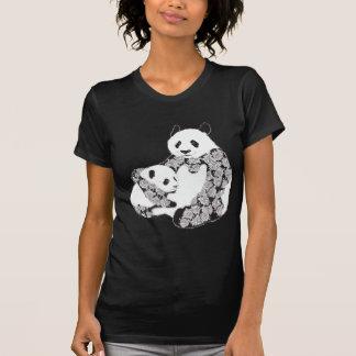 Panda Mother & Baby Cub Illustration Shirt