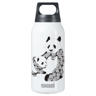 Panda Mother & Baby Cub Insulated Water Bottle