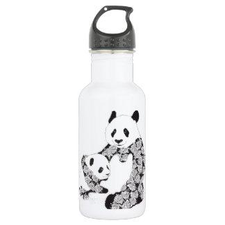 Panda Mother & Baby Cub 18oz Water Bottle