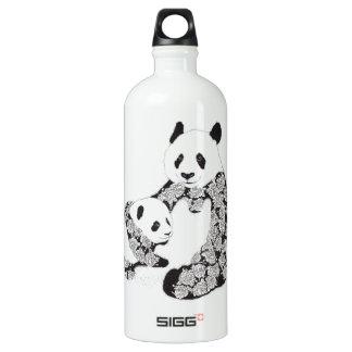 Panda Mother & Baby Cub Water Bottle