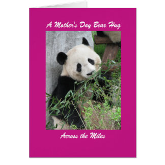 Panda Mother's Day Bear Hug Across the Miles Pink Card