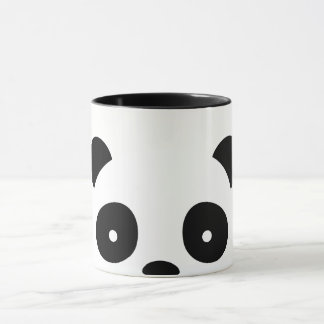 Panda Mug, white and black decorations Mug