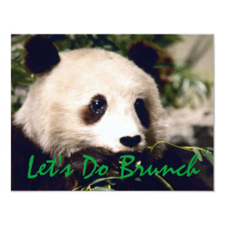 Panda Munching Greens INVITATION ~ EZ2 CUSTOMIZE!