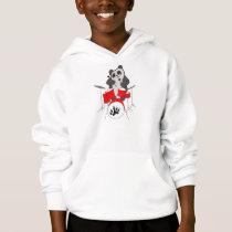 panda musician hoodie