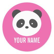 Panda name stickers