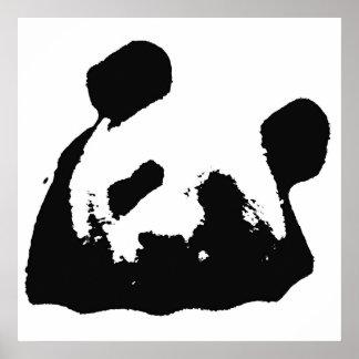 Panda negra y blanca del arte pop póster