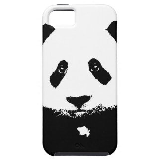 Panda negra y blanca funda para iPhone 5 tough