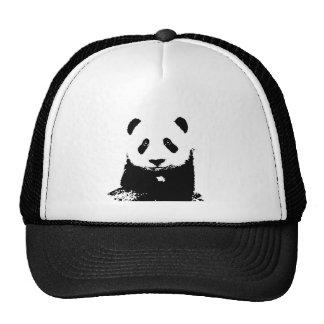 Panda negra y blanca gorras
