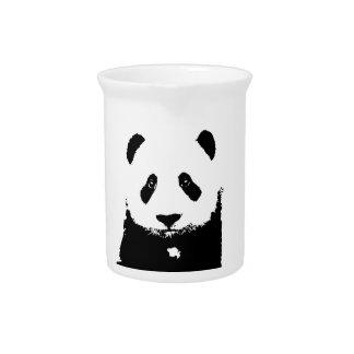 Panda negra y blanca jarron