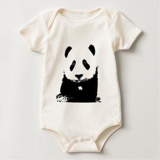 Panda negra y blanca mamelucos