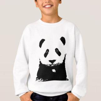 Panda negra y blanca sudadera
