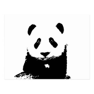 Panda negra y blanca postales