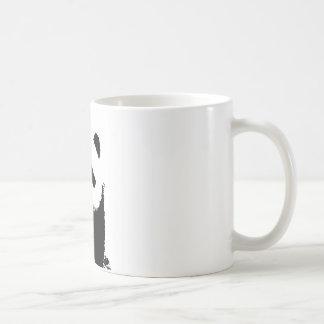 Panda negra y blanca taza de café