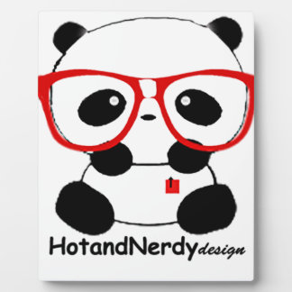 Panda Nerdy Placa De Plastico