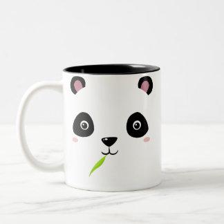 _panda nom Two-Tone coffee mug