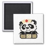 Panda Nurse 2 Inch Square Magnet