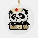 Panda Nurse Christmas Ornament