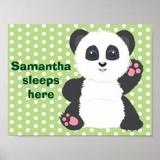 Panda nursery poster