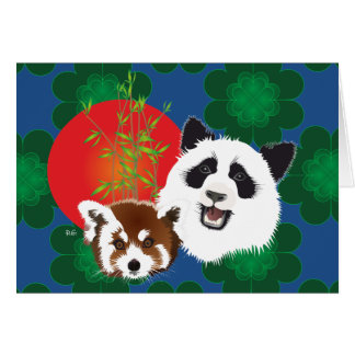 Panda of friends for the eternity with saying card
