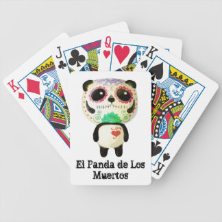 Panda of The Day of The Dead Bicycle Playing Cards