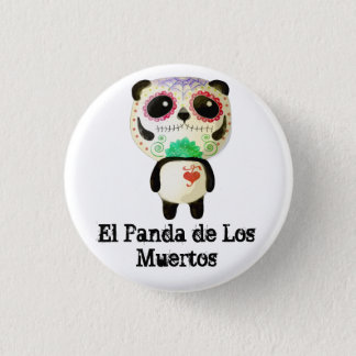 Panda of The Day of The Dead Button