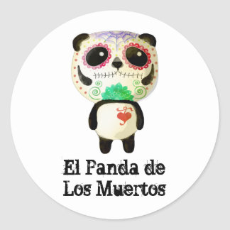Panda of The Day of The Dead Classic Round Sticker