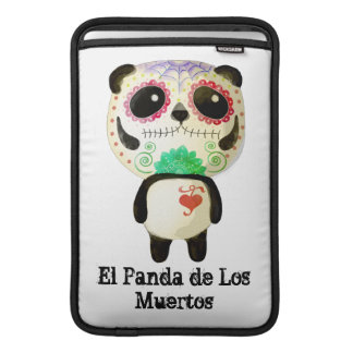 Panda of The Day of The Dead MacBook Air Sleeves