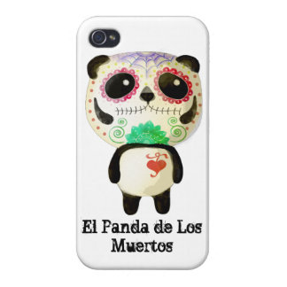 Panda of The Day of The Dead iPhone 4/4S Cases