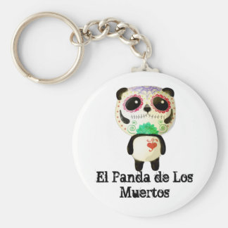 Panda of The Day of The Dead Keychain