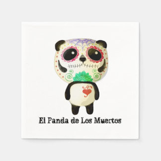 Panda of The Day of The Dead Paper Napkin