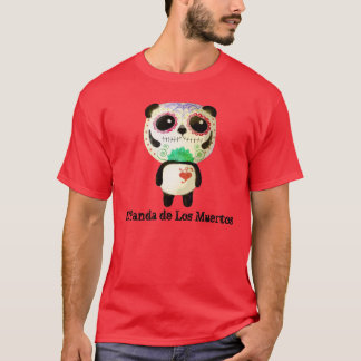 Panda of The Day of The Dead T-Shirt