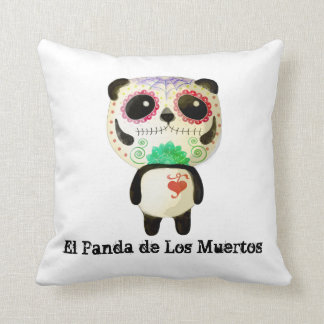 Panda of The Day of The Dead Throw Pillow