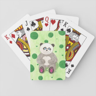 Panda on a green background set of playing card