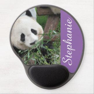 Panda on Purple Gel Mousepad, Personalized Gel Mouse Pad