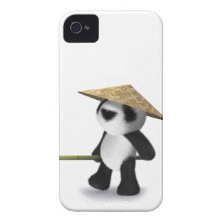 panda Oriental del bebé 3d iPhone 4 Case-Mate Protector