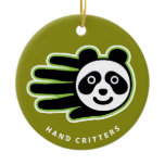 Hand shaped Panda ornament