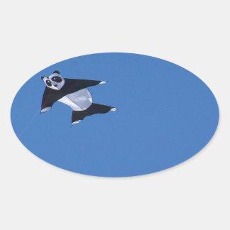 PANDA OVAL STICKER
