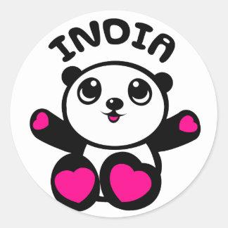 Panda Panda India Sticker