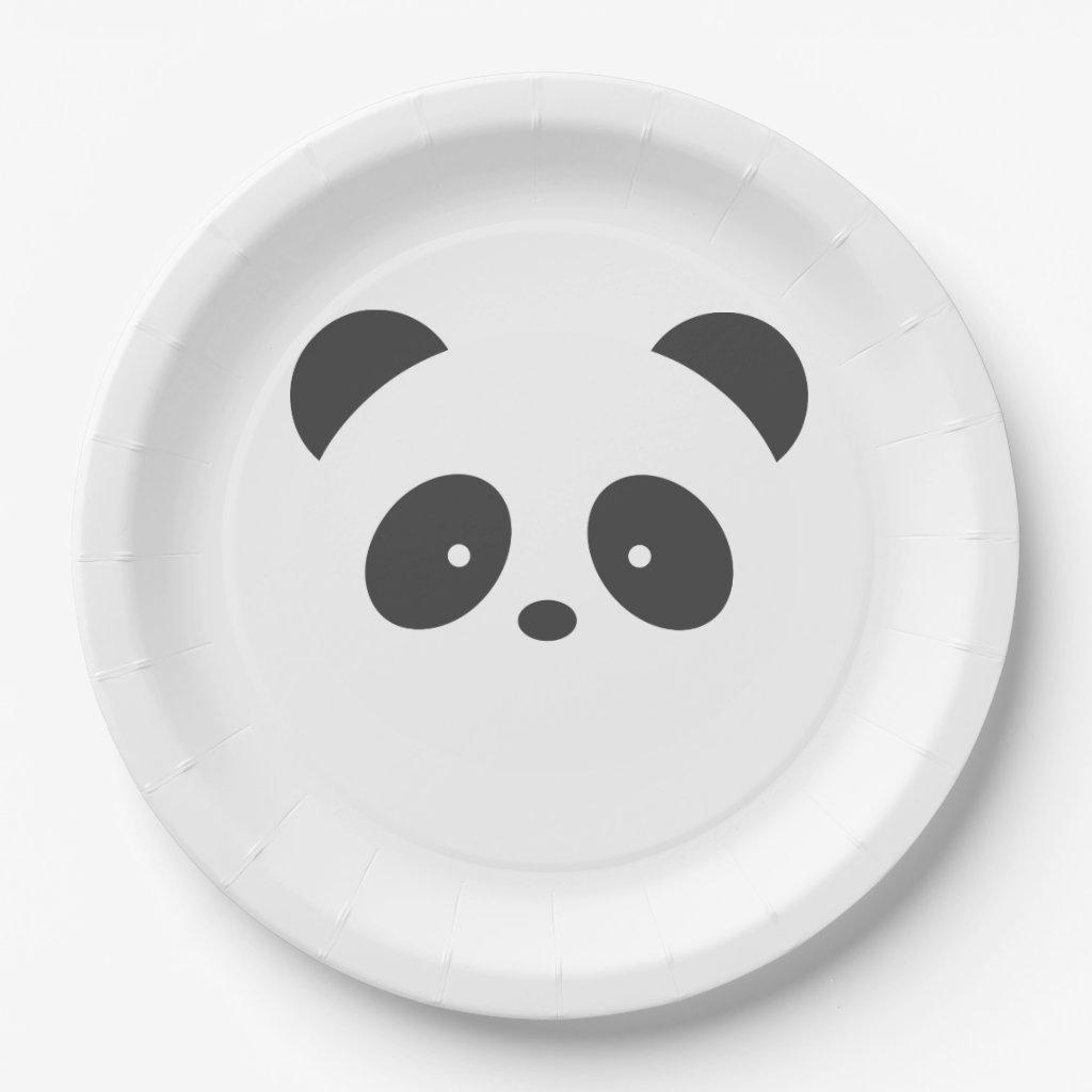 Panda Paper Plates