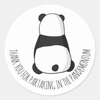 Panda Party Thank You Sticker