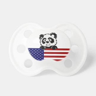 Panda patriótica chupetes de bebé