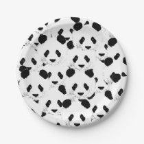 Panda pattern paper plate