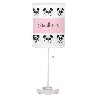 PANDA PATTERN with PINK Custom Name V085V Table Lamp