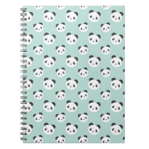 Panda patterned notebook