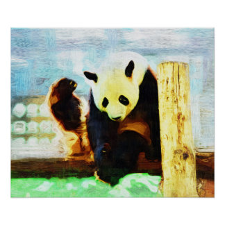 PANDA PAWS ORIGINAL ART Photo Manipulation Poster