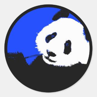 panda. pegatina redonda